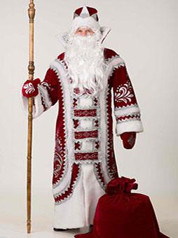 Костюм Деда Мороза Купеческий Бордо  в Пензе