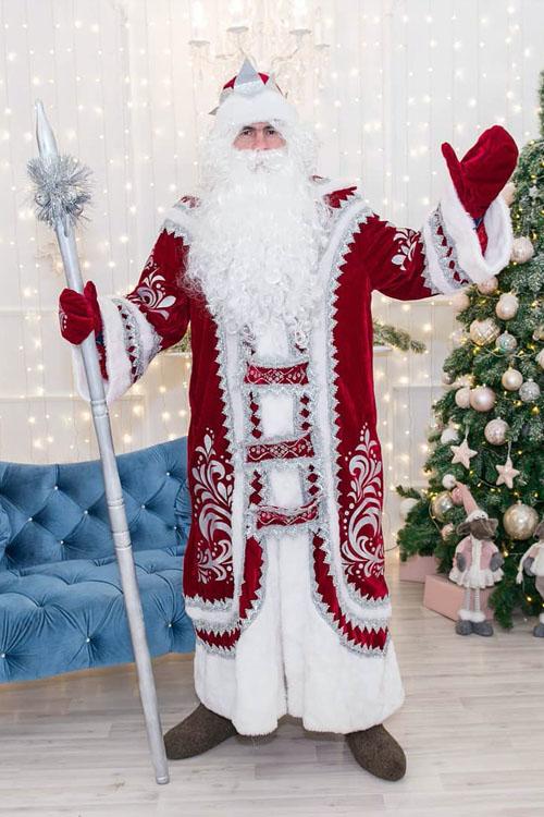 Купеческий Костюм Деда Мороза бордо в Пензе