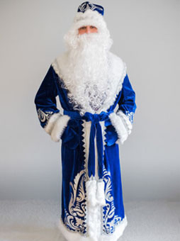 Подробнее Боярский Дед Мороз Костюм Деда Мороза Боярский синий в Пензе